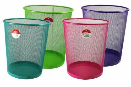 Home Basics NEW Mesh Trash Green Purple Bin -