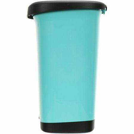 New Teal On Can Garbage Bin