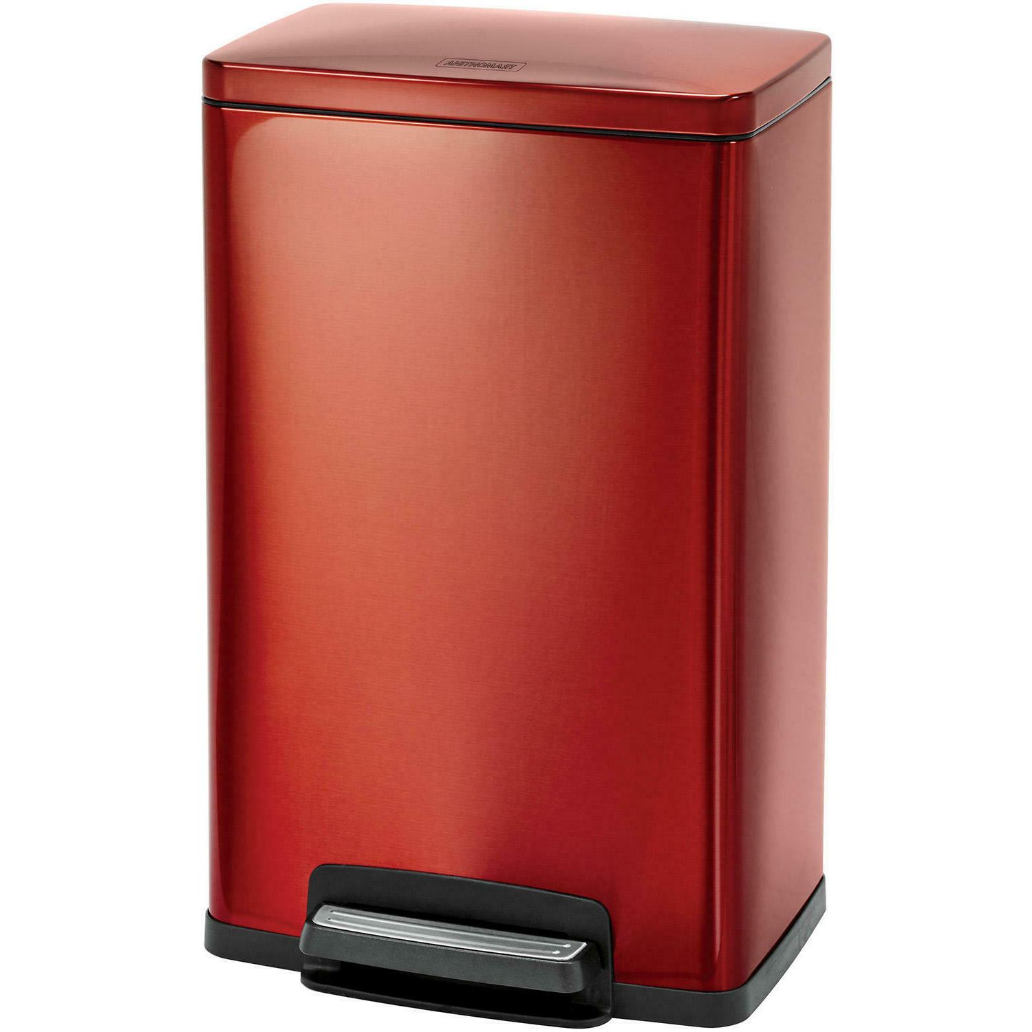 Tramontina Stainless Steel Step Trash Can, Red  **Free Shipp