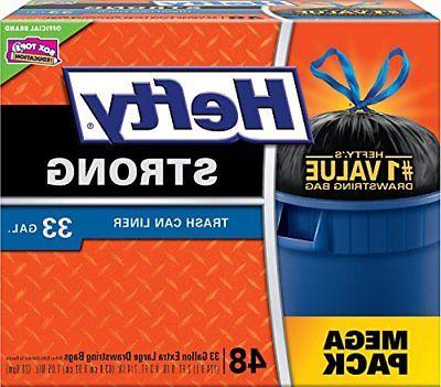 new strong large trash bags 33 gallon