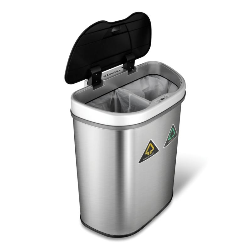 Nine Stars Sensor Recycle Unit and Trash Can, Stainless Steel