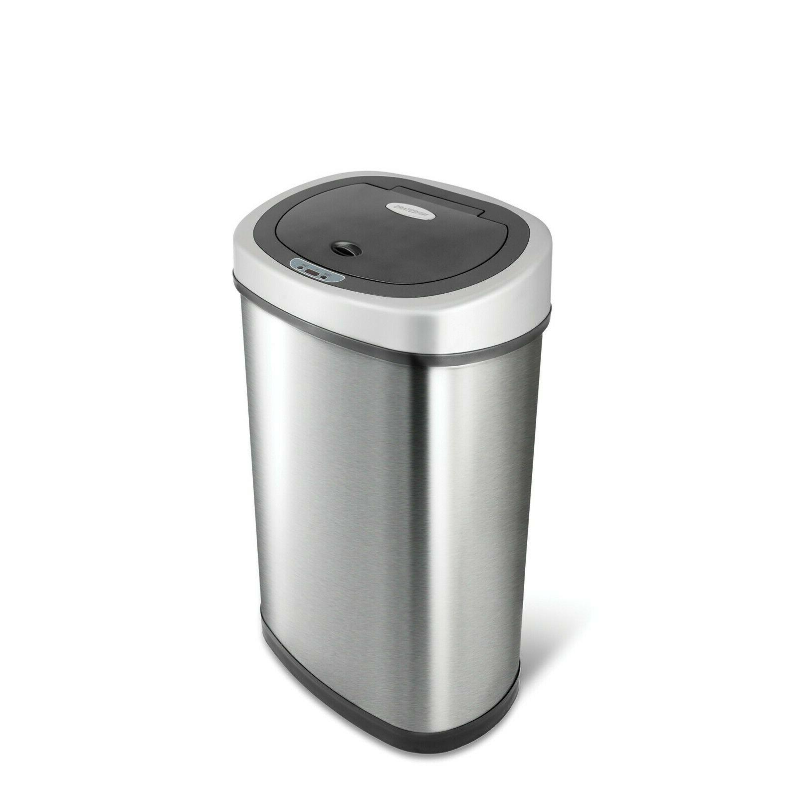 touchless stainless steel 13 trash can 2