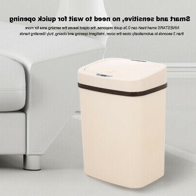 NINESTARS Smart 12L Automatic Trash Can Touchless IR Motion
