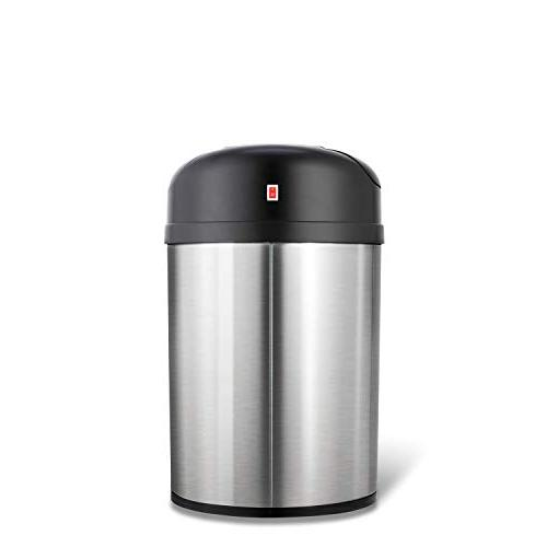 NINESTARS DZT-31-8 Touchless Infrared Motion Can, 8 Gal Stainless Steel