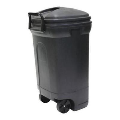 no tb0010 rectangular wheeled trash can black
