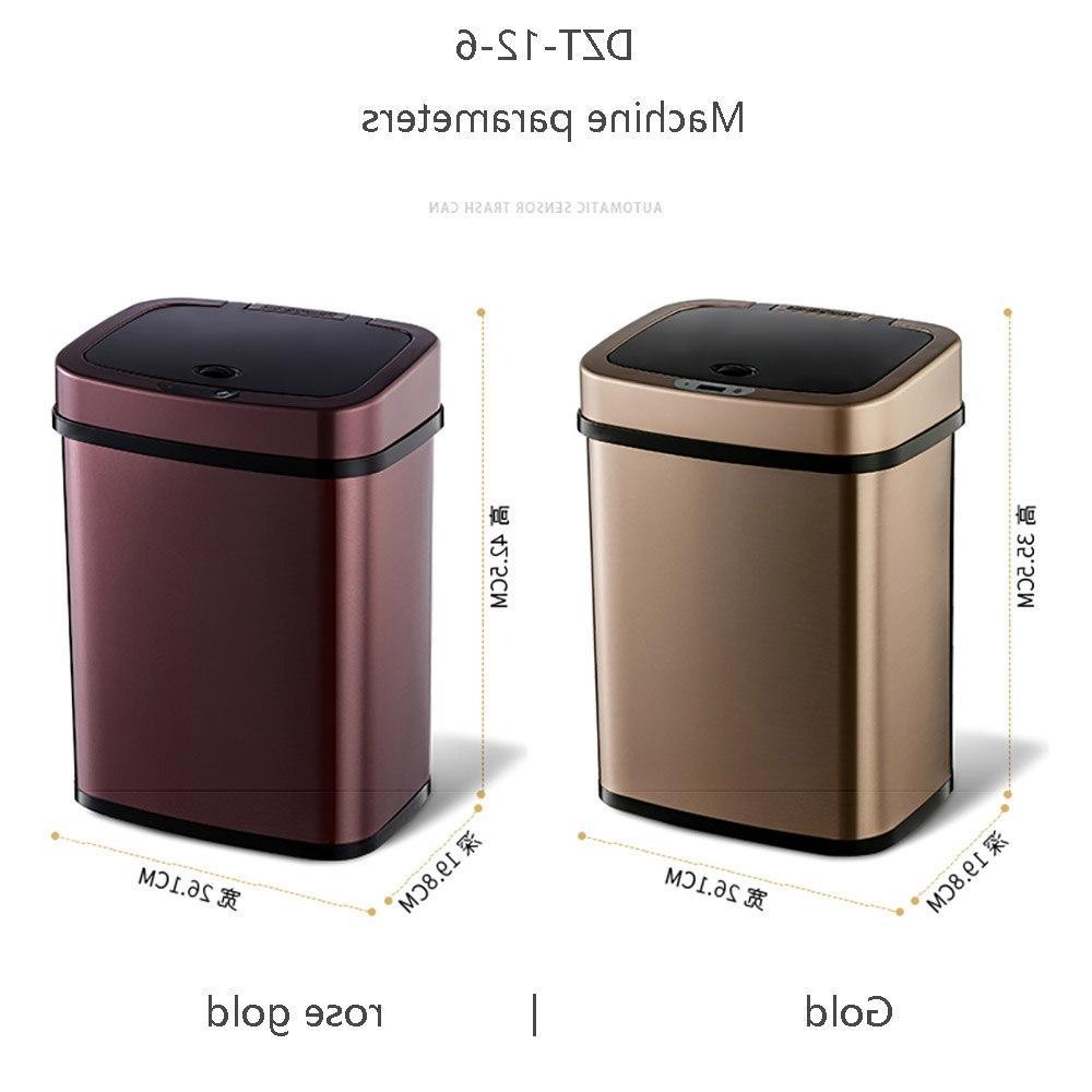 Ninestars NST Square Bin <font><b>Garbage</b></font> Bin Gold 12L From xiaomi youpin