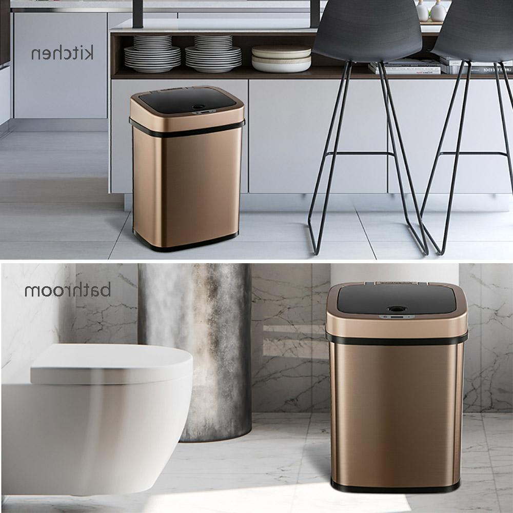 Ninestars Smart Trash Square Waste Bin Bin Office Gold 12L From youpin