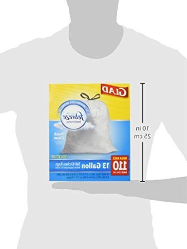 Glad OdorShield Protection Tall Trash Bags Febreze Fresh Clean - 13 -