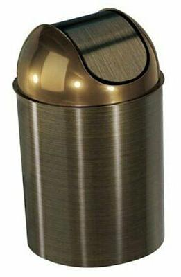 oil rubbed bronze trash can garbage wastebasket
