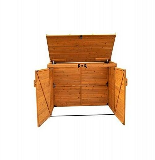 Outdoor Can Shed Outdoor Bin Organizer