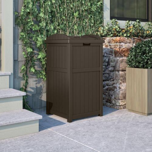 Outdoor Hideaway Resin Patio Garden Bin Can