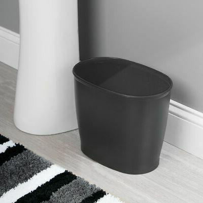 oval plastic trash can small garbage wastebasket