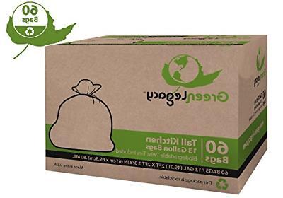 pack of 60 trash bag garbage can