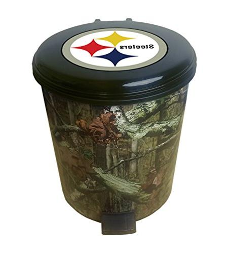 plastic can wastebasket a camouflage