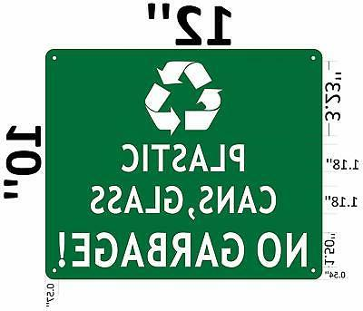 Plastic and Glass NO Garbage Sign
