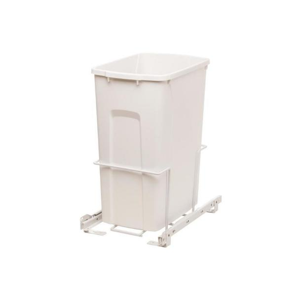 Plastic Trash Can White Basket Waste