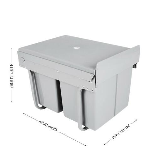 30L Under-Cabinet Can Container Bin Waste Garbage