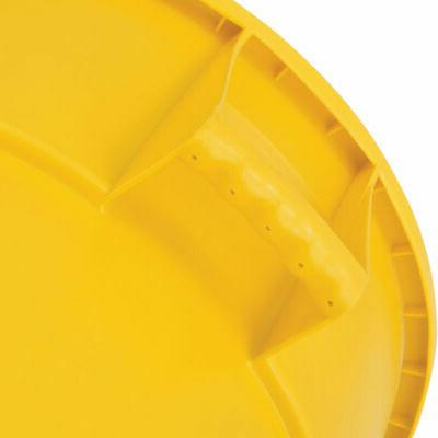 Plastic Trash Container, Can Yellow