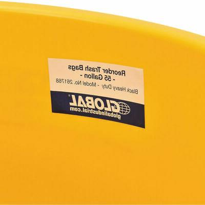 Plastic Trash Garbage Can - Yellow