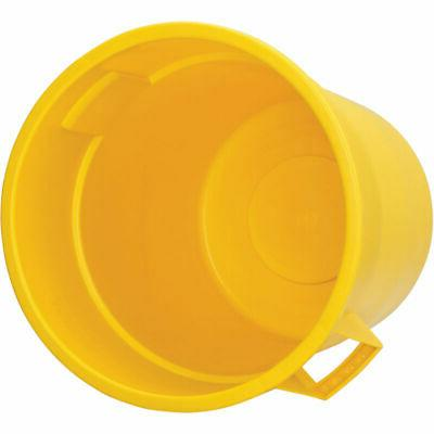 Plastic Garbage Can - Yellow