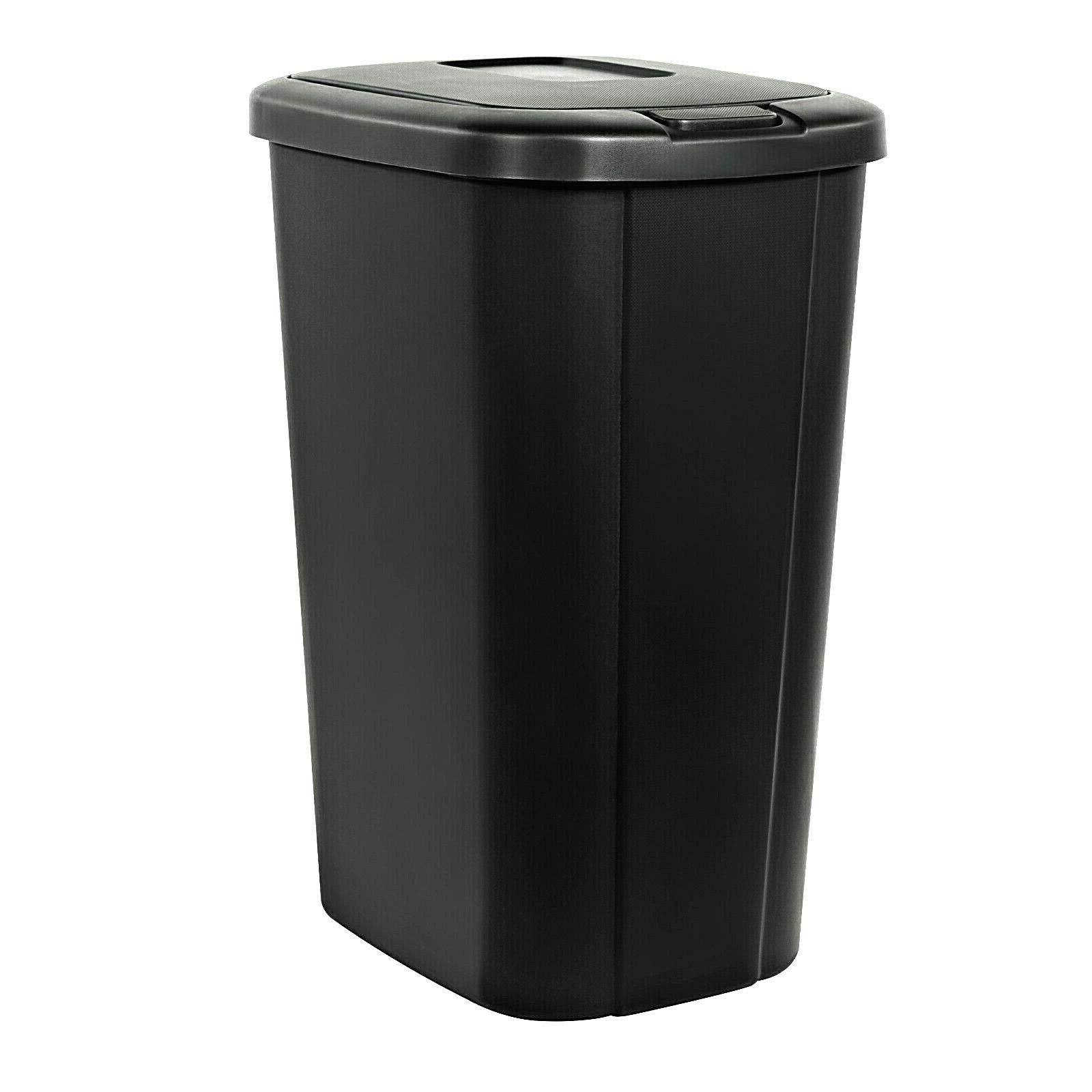 plastic waste basket with touch lid 13
