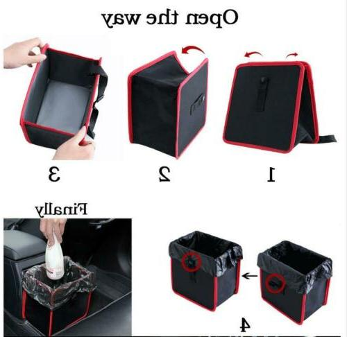 Portable Garbage Bag for Vehicles Black