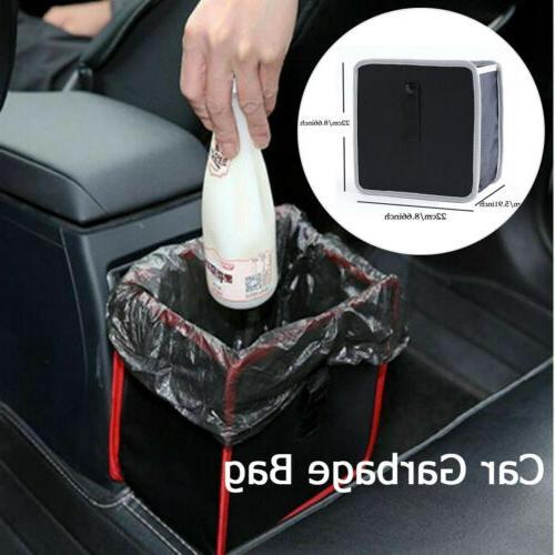 portable car trash can back seat organizer