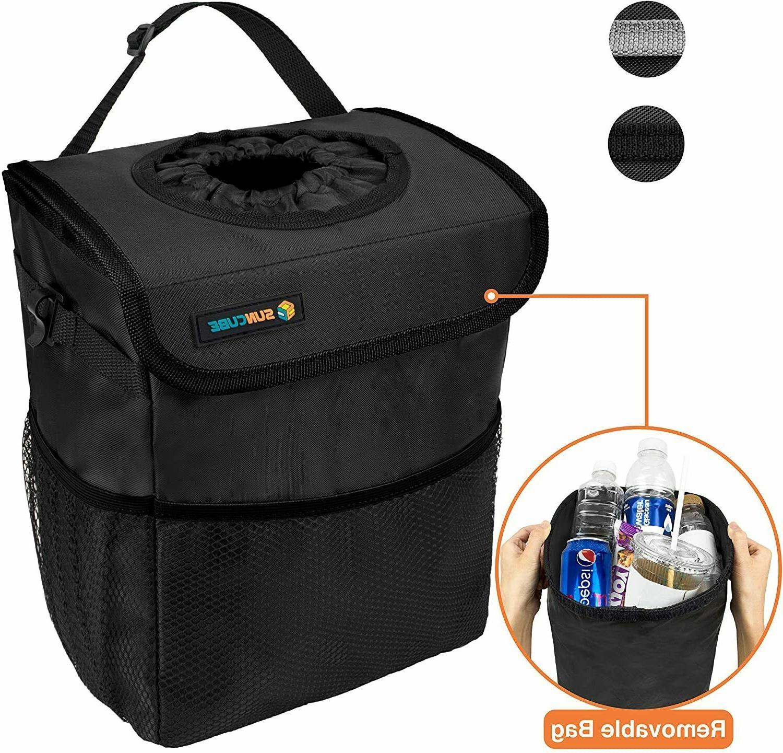 portable car trash can garbage bin bag