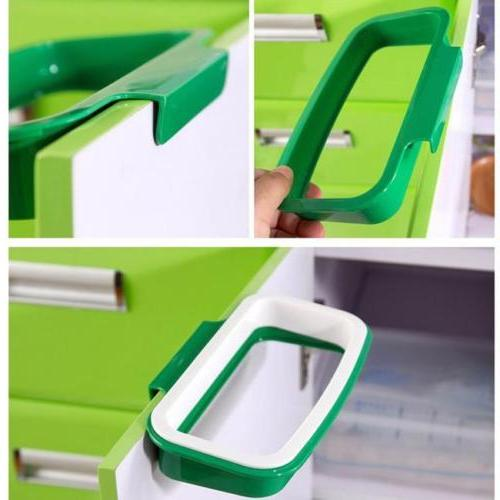 Portable Garbage Trash Bag Can Hanging Home Kitchen Tool 6L
