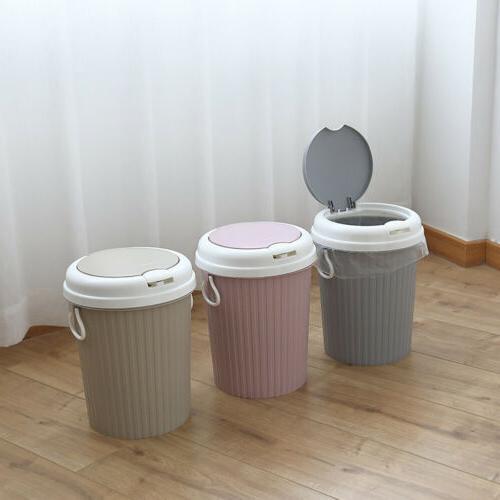 Portable Trash Can Garbage Bin Swing Lid Home Bathroom Kitch