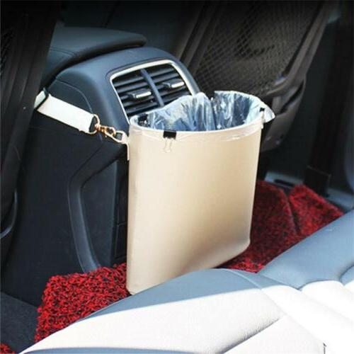 Car Trash Can PU Leather Garbage Can Auto Bags