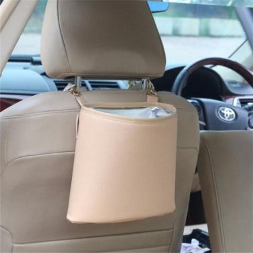 Car Trash Can Leather Car Auto Trash Bags