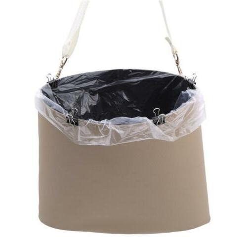 Car Can Leather Car Garbage Auto Trash Bin Garbage Bags