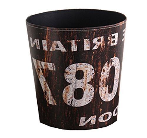 pu leather wastebasket paper basket