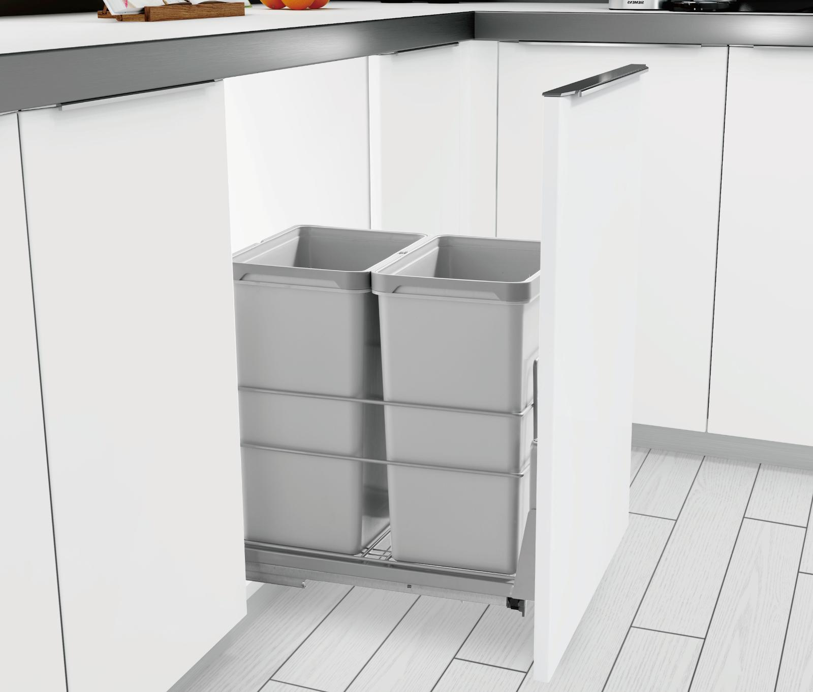 pull out kitchen cabinet trash can 2