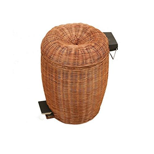 rattan articles trash can home