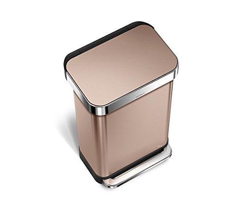rectangular trash can