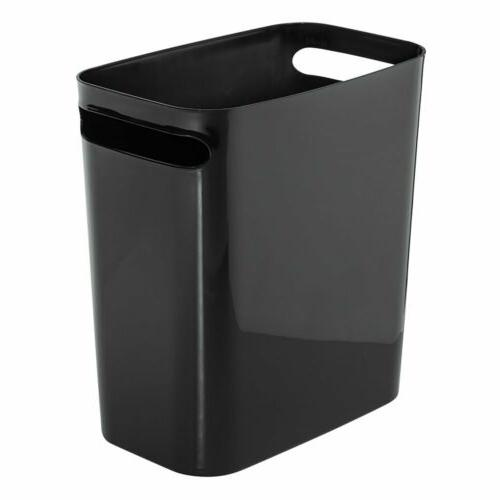 rectangular trash can with handles waste basket