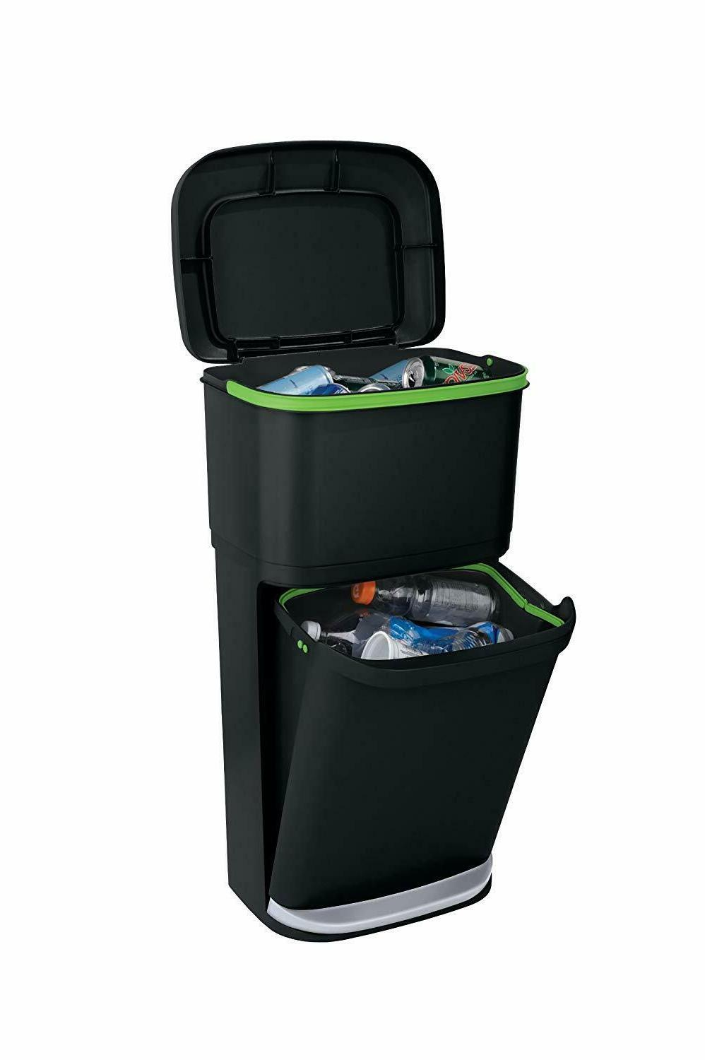 Double Stacking Trash Can Garbage Recycle Bins Step On Rubbi