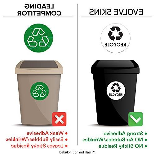 Recycle Trash Sticker - x Coordinate Garbage Waste from Recycling - Metal Steel Plastic Trash - Indoor Use at &