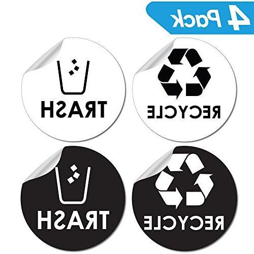 recycle trash bin logo sticker