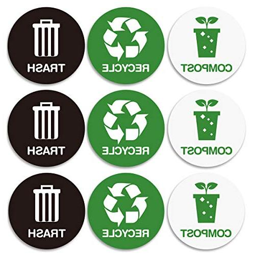 recycle trash bin logo stickers