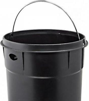 Red Garbage 8 Metal Trash Cans Top Close Retro