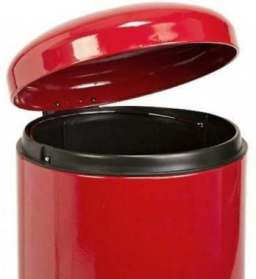 Red Garbage Can 8 Cans Close