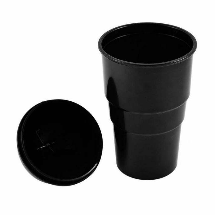 Rolling Type Car Garbage Cans Round Auto Bin