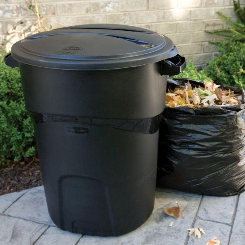 Rubbermaid Roughneck Gal. Black Trash Can with Outdoor Bin