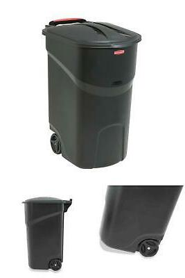 Roughneck Trash Can with Hinged Lid by 45 Bin