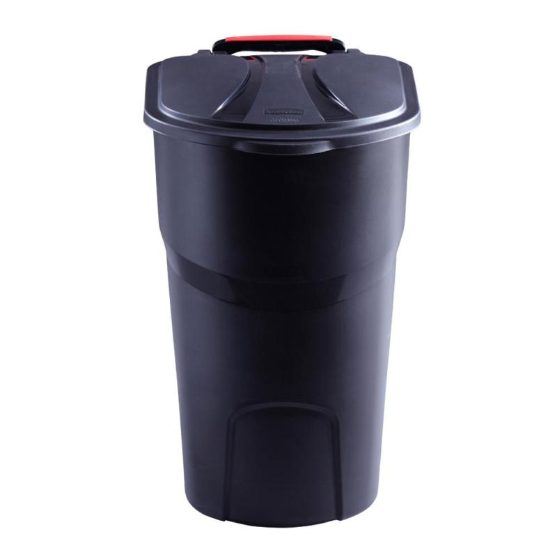 Rubbermaid Roughneck Trash Can With Lid 45 Gal. Black Wheele
