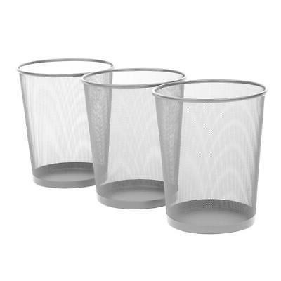 round mesh wastebasket recycling bin
