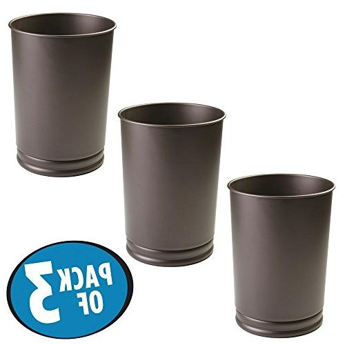 round metal tall trash can